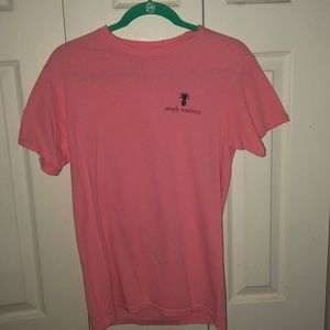 Tops - Pink simply southern t shirt